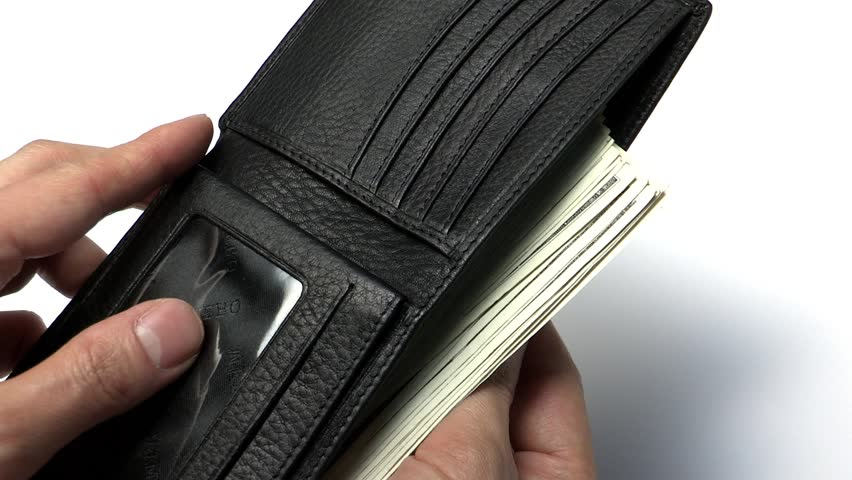 Wallet full of cash