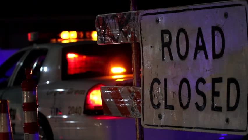 Police Closing Road After Accident