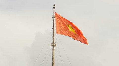 Vietnam flag on flag pole in Hue Citadel