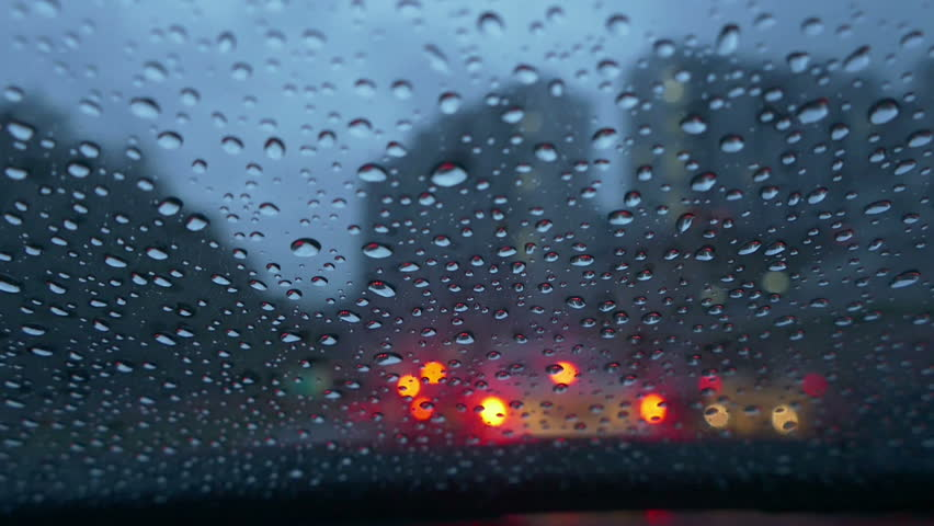 Rain On Windshield Of Car While Driving | Shutterstock HD Video #24037657