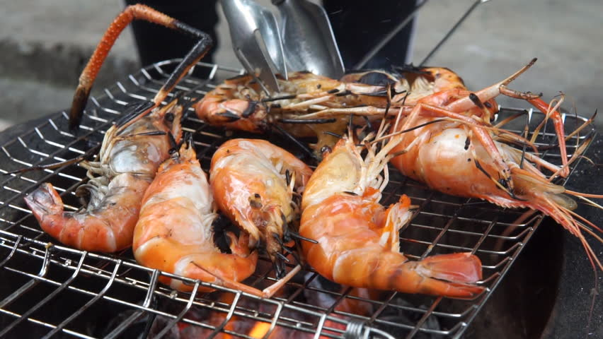 Shrimps grill | Shutterstock HD Video #24053737