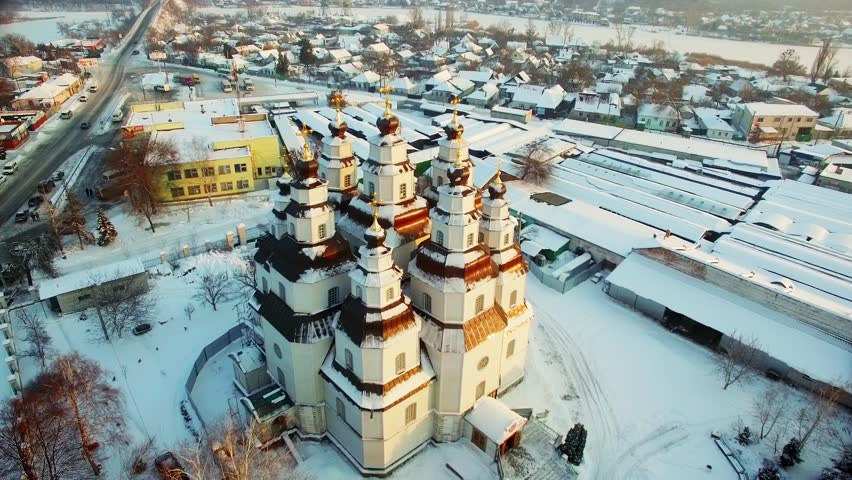 The Orthodox Church, Holy Trinity Church. Winter | Shutterstock HD Video #24114037