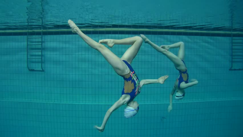 Underwater view of Synchronized Swimming   Shutterstock HD Video #24131830
