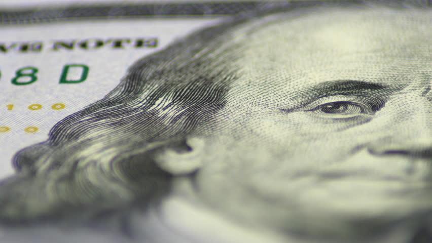 Slow Rotating Hundred Dollar Bill Macro   Shutterstock HD Video #24177127