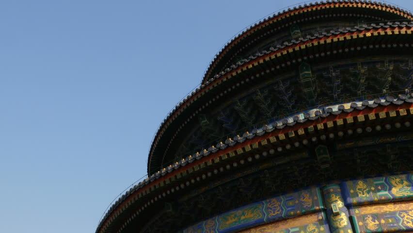 The Temple of Heaven roof in winter, Beijing | Shutterstock HD Video #24193387