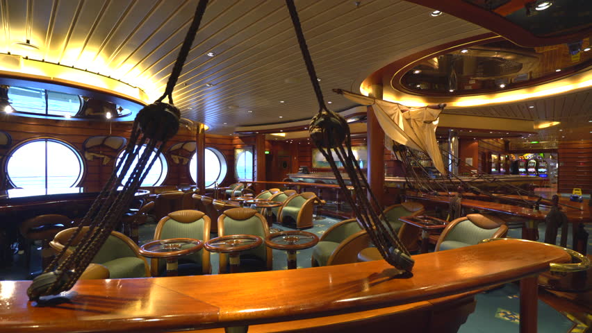 Luxury Bar Interior In A Cruise Ship