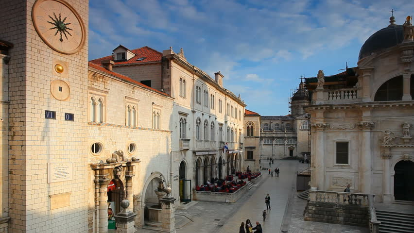 Dubrovnik panorama old city with tourists