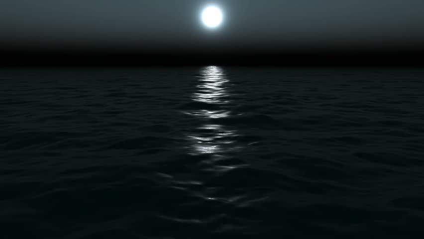 moon at coast of the sea