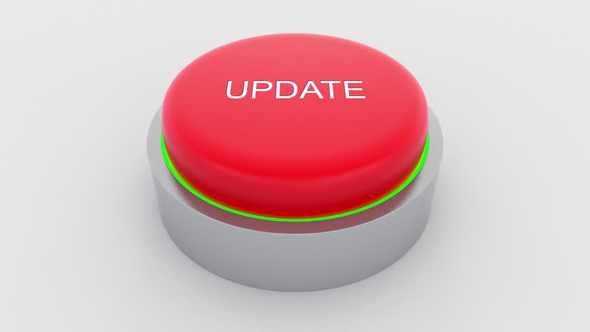 Big red button with update inscription being pushed. Conceptual 4K clip | Shutterstock HD Video #24301397