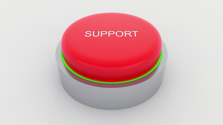 Big red button with support inscription being pushed. Conceptual 4K clip | Shutterstock HD Video #24301439