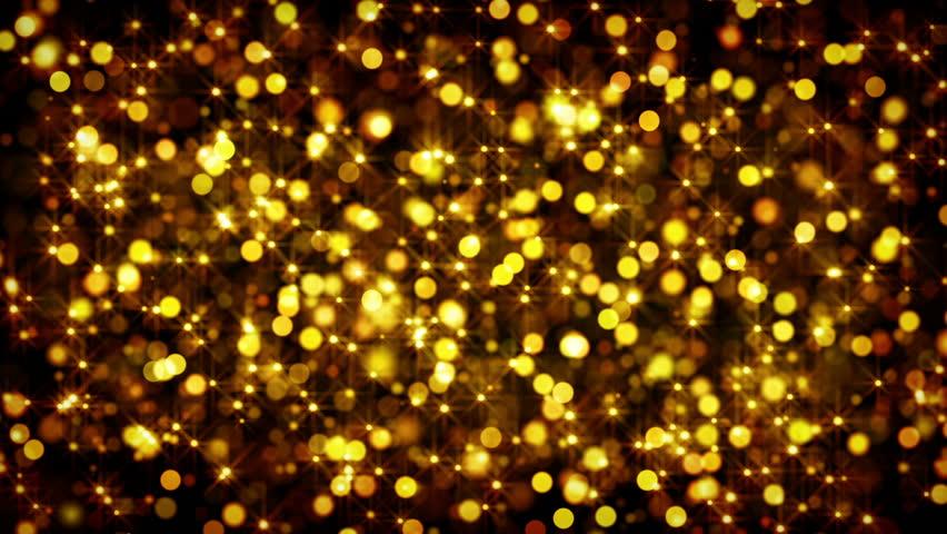 Stokovoe Video Gold Bokeh Circles And Stars Absolyutno Bez