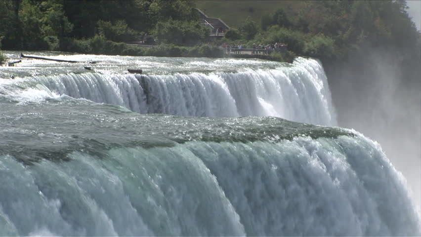 View Of Niagara Waterfalls From Stock Footage Video 100 Royalty Free 2440967 Shutterstock