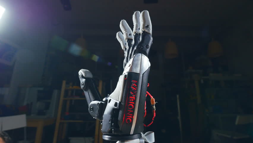 Cyber hand, robotic arm showing - ok, positive sign. | Shutterstock HD Video #24415847
