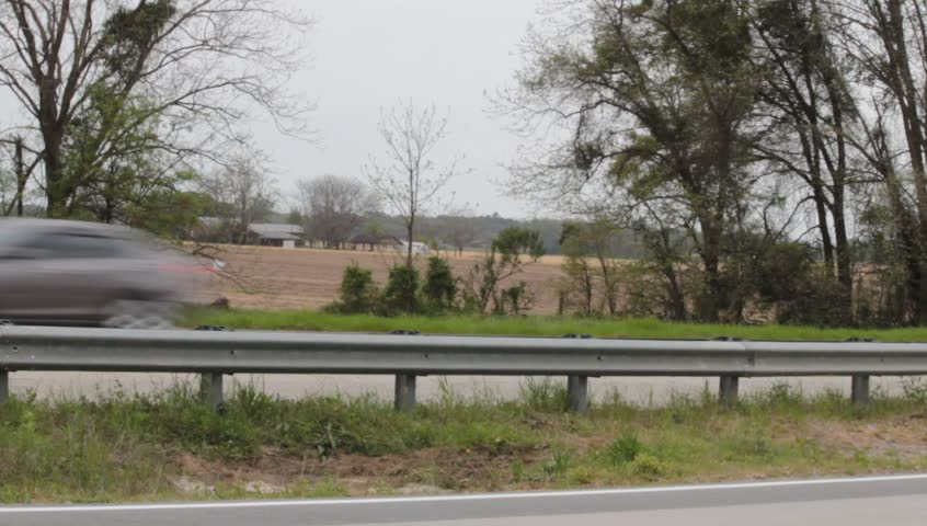 18 Wheeler and Traffic Passing on Country Highway