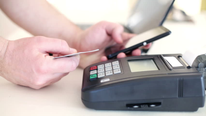 Payment with smartphone, NFC , near field communication. | Shutterstock HD Video #24438587