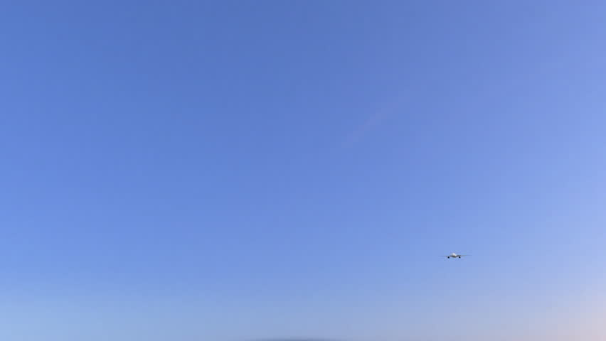 Commercial airplane arriving to Carrefour airport. Travelling to Haiti conceptual 4K animation