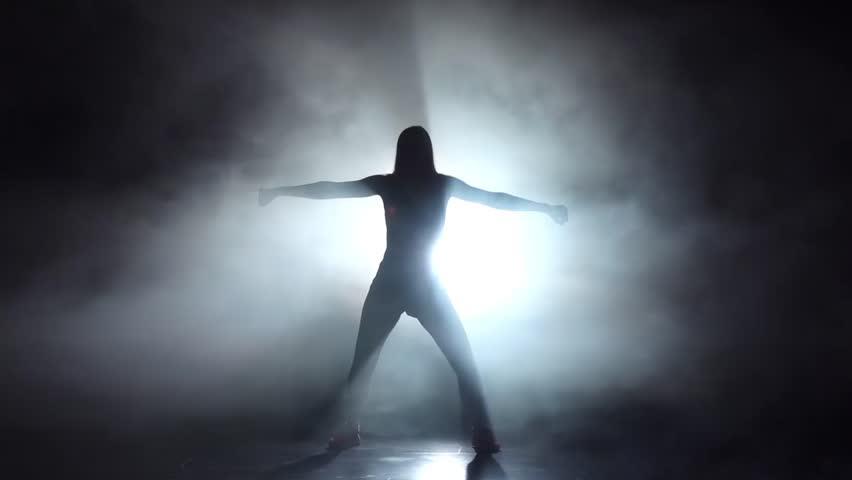 Sexy Girl Dancing In A Smoky Studio Twerk Dance -2907