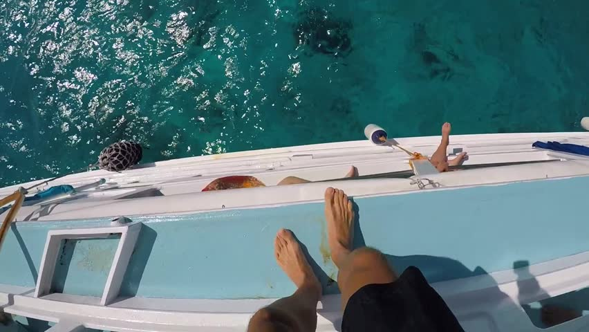 First Person View Extreme Jumping in Water from Boat. GoPro HD pov Slow Motion. Thailand. #24475607