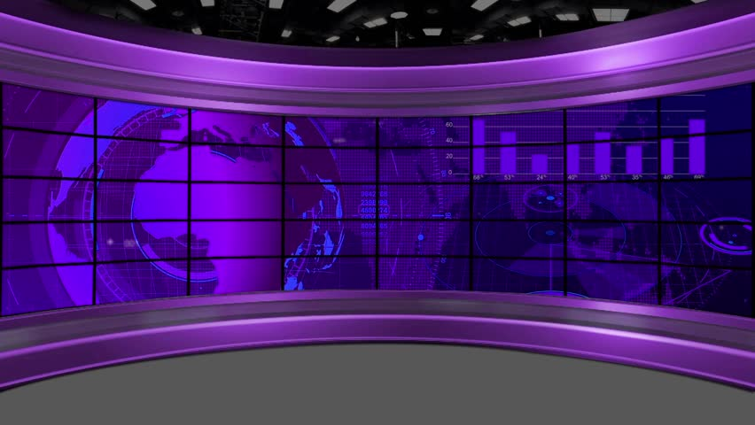 News- Broadcast TV Studio Background    Shutterstock HD Video #24495887