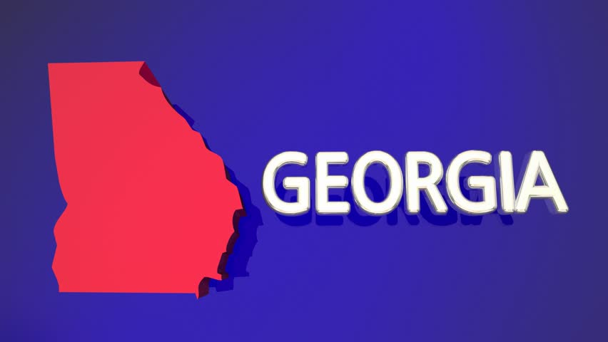 Georgia Animated Map Video Starts With Light Blue USA National - Georgia map hd