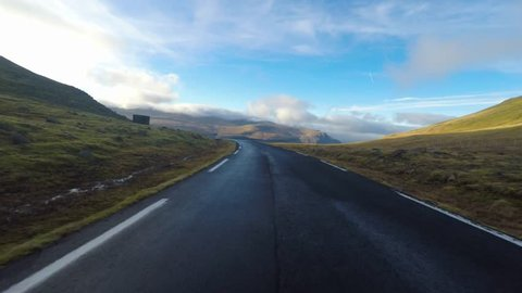 A road trip in the Faroe Islands in the north Atlantic