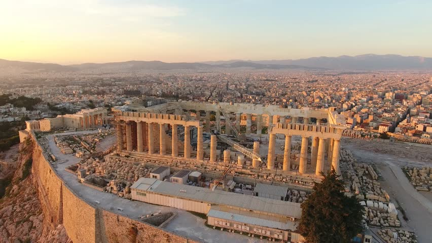 Acropolis of Athens Sunset