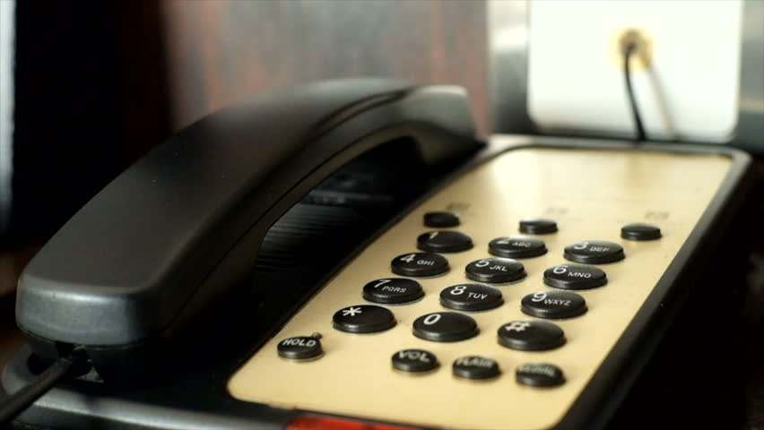 press number pad to dial telephone in hotel