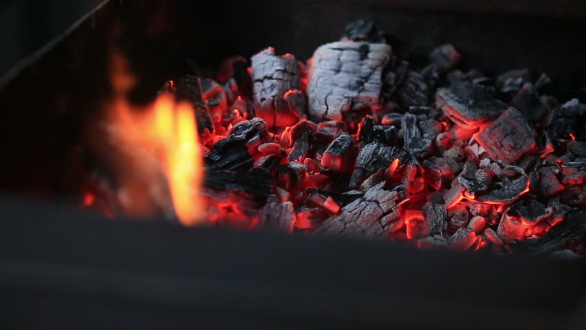 Burning coals, Glowing Charcoal Background #24751295