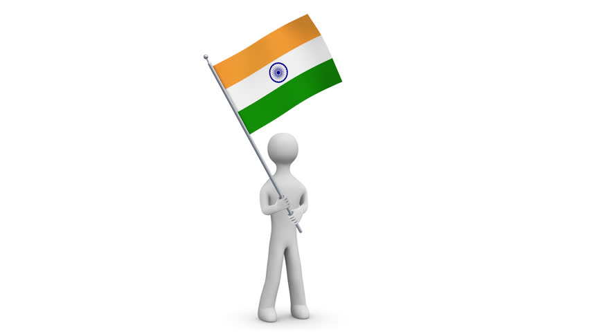 Indian Flag Animated: Indian Flag Stock Footage Video 9154496