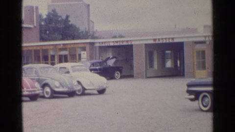 GERMANY 1961: a view of an old volkswagen dealership