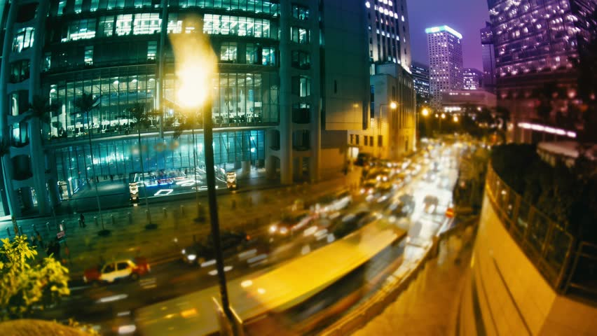 The Evening Streets of Hong Kong. Time Lapse. | Shutterstock HD Video #24793547