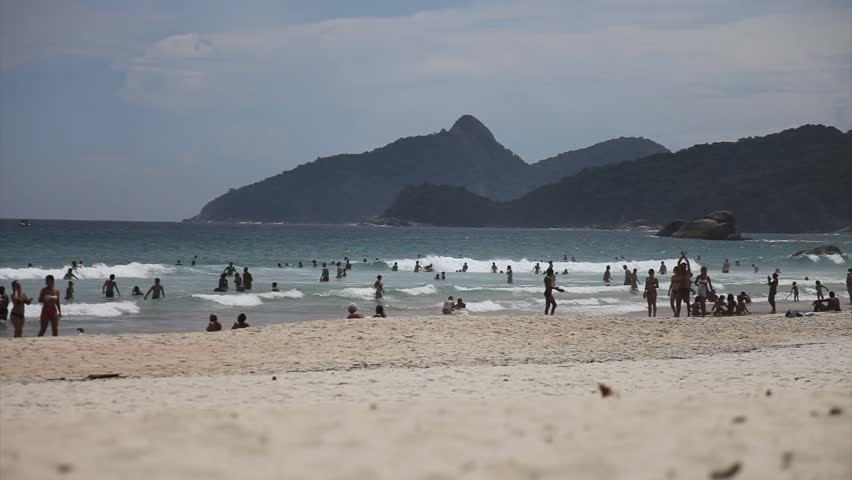 Sunny beach in Brazil - HD stock footage clip