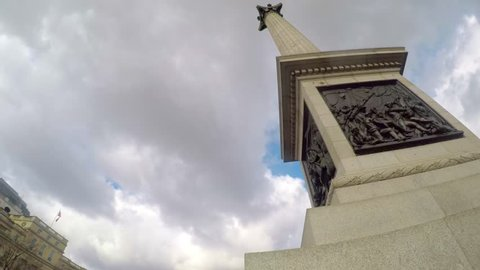 Amazing footage filmed in 4K using a large jib directly below Nelson's Column. Unique views the landmarks  around the statues of Trafalgar Square. Clip 13