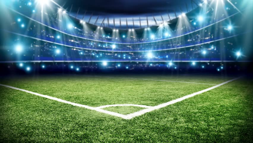 Football pitch and fast ball stock footage video 24869126 shutterstock - Soccer stadium hd ...