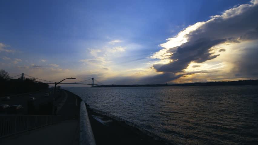 Bay Ridge Brooklyn Sunset Over Hudson River