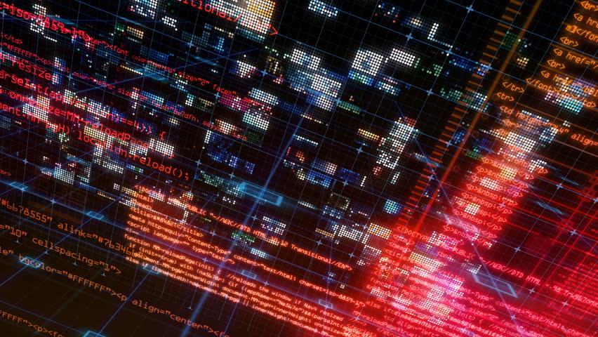 Technology Interface Computer Data Digital Screen | Shutterstock HD Video #24941327
