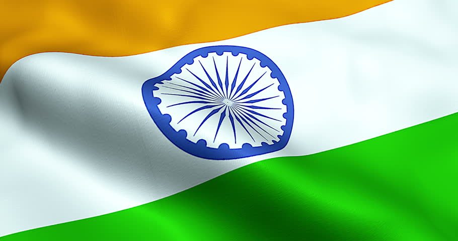 Indian Flag Animated: Closeup Of India Flag Stock Footage Video 2161913
