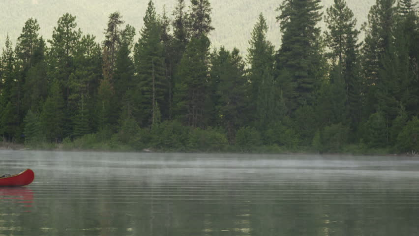 Tranquil morning canoe on Idaho's Priest Lake.