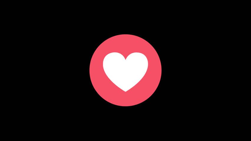 Facebook Reaction Love 1080p | Shutterstock HD Video #25043114