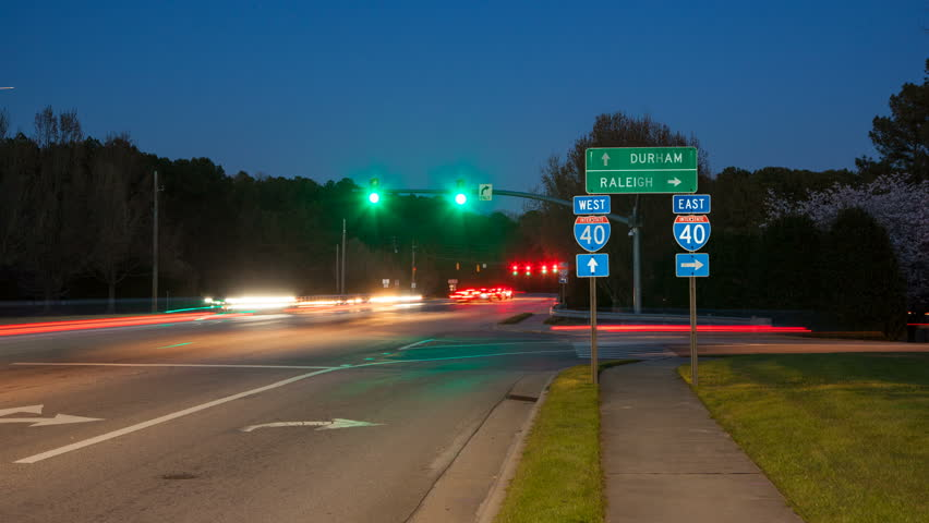 Raleigh Durham NC Interstate 40 Traffic Timelapse at Exit Interchange with Fast Moving Vehicles Passing East & Durham NC City Skyline Timelapse With Fast Moving Interstate ... azcodes.com