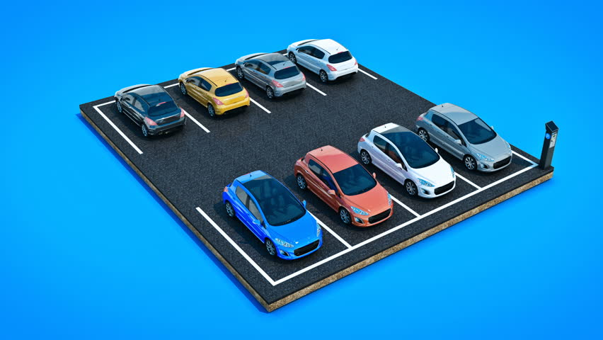 Cars in Parking Lot  3d Stock Footage Video (100% Royalty-free) 25123937 |  Shutterstock