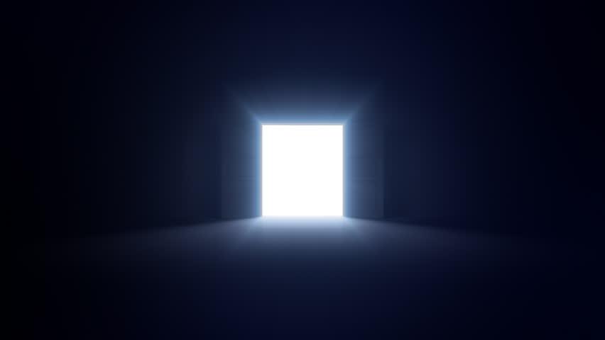 Lighting A Dark Room in a dark room opens door stock footage video 709006   shutterstock