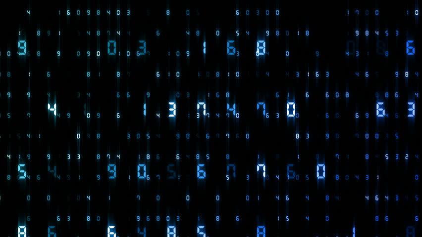 Digital world data space number text. | Shutterstock HD Video #25142837
