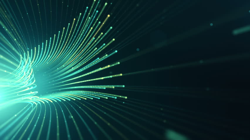 Abstract background with animation moving of lines for fiber optic network. Magic flickering dots or glowing flying lines. Animation of seamless loop. | Shutterstock HD Video #25151597