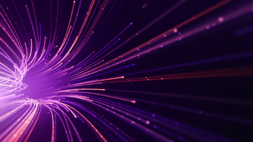 Abstract background with animation moving of lines for fiber optic network. Magic flickering dots or glowing flying lines. Animation of seamless loop. | Shutterstock HD Video #25151807
