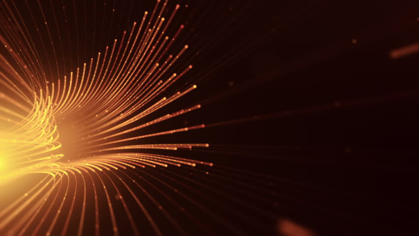 Abstract background with animation moving of lines for fiber optic network. Magic flickering dots or glowing flying lines. Animation of seamless loop. | Shutterstock HD Video #25152047
