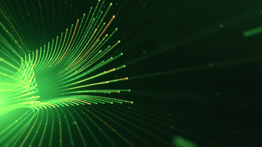 Abstract background with animation moving of lines for fiber optic network. Magic flickering dots or glowing flying lines. Animation of seamless loop. | Shutterstock HD Video #25152377