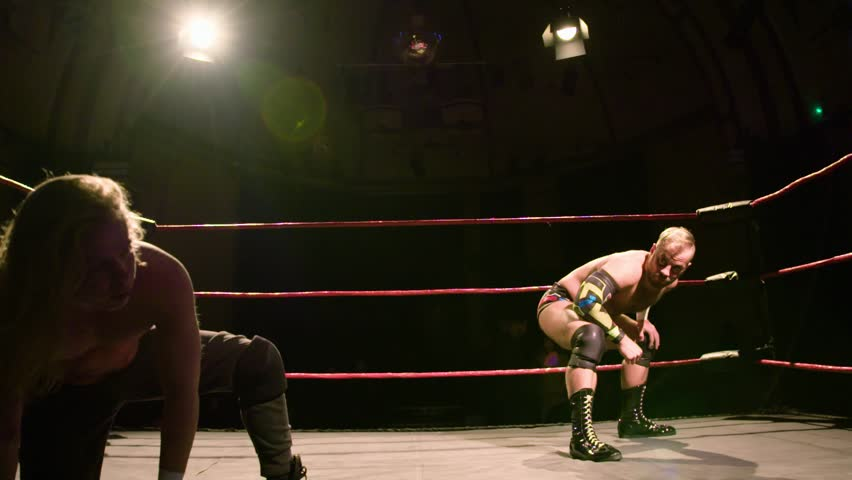 Wrestler Kicks Opponent in Face with a Superkick, Pro Wrestling Match 2