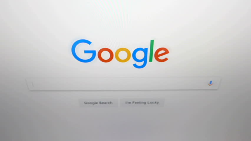 Empoli, Italy - March 25, 2017: video footage of the screen on Google, the most popular search engine in the world.