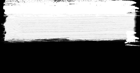 abstract  paint brush stroke black and white transition background, animation of paint splash with alpha channel